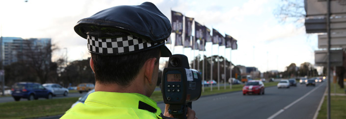 Police testing drivers speed